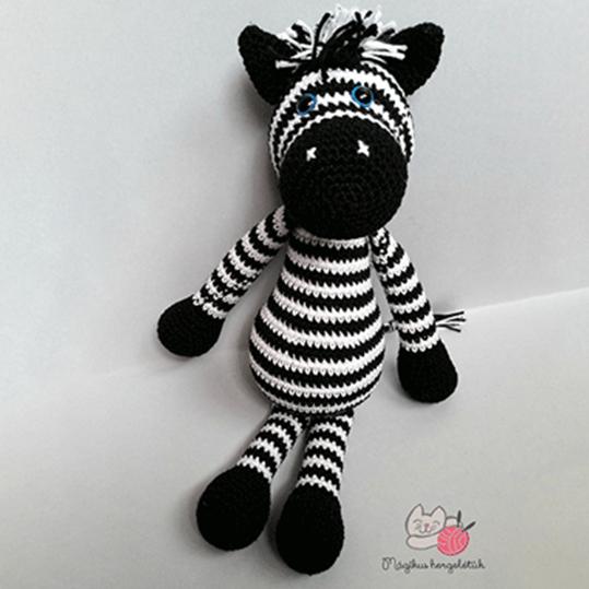 Zane az amigurumi zebra (ingyenes horgolásminta)   Mindy   539x539